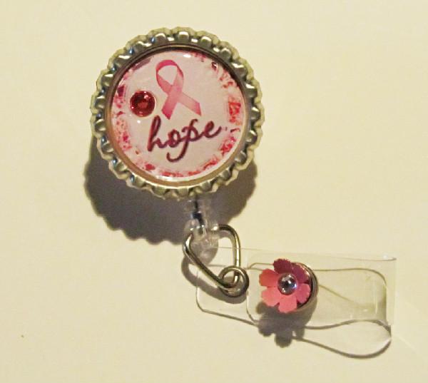 Breast Cancer Awareness-breast,cancer,awareness,badge reel,id tag,retractable badge reel,nurse,teacher,health care worker,gift,silver,fun