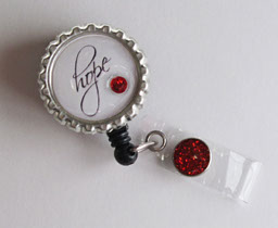 Hope-Hope,script,white,black,badgereel,retractable,heart,red,idbadge,nurse,teacher,gift,classic
