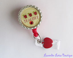 Apples for the Teacher-badge reel, id reel, teacher, apple, educator, red, gift, birthday, crystal, rhinestone, bling, teacher badge reel, cute badge reel, teacher id reel, red, school