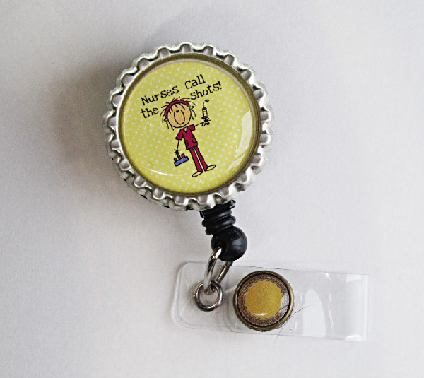 Nurses Call the Shots-Nurses,call,shots,retractable,badgereel,idreel,teacher,gift,yellow,male,female