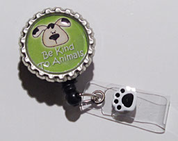 Be Kind to Animals II-Be Kind Animals,puppy,pawprint,dog,green,badgereel,nurse,gift,cute,adorable,teacher,healthcare worker,black