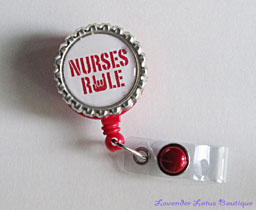 Nurses Rule-Nurses,Rule,nurse,badgereel,red,retractable,nurse,healthcare worker,doctor,hospital,gift,bling