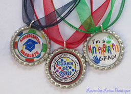 2011 Kindergarten Graduate-kindergarten, graduate, gift, achievement, bottlecap, necklace, navy, red, green, ribbon, silver, ballchain, glitter, school, teacher, friend, family, bottlecap necklace, kindergarten graduate, class of 2011, kindergarten graduate gift