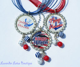 Air Force, Marine and Navy Princess Pendants-bottlecap necklace, military necklace, air force, marines, navy, red, white, blue, silver ball chain, red ribbon necklace, blue ribbon necklace, military princess necklace, air force necklace, marine necklace, navy necklace, military princess necklace, military bottlecap necklace, fun bottlecap necklace, bottlecap necklace gift, teen gift, tween gift, teen necklace, tween necklace