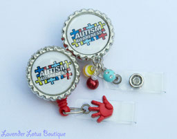 Autism Awareness-retractable, badge, reel, id, credentials, Autism, Awareness, beads, beaded, bling, retractable badge reels, fun badge reels, retractable id reels, retractable id holder, id holder, badge reels, awareness retractable badge reels, awareness id reels, awareness badge reels, awareness badge holders, Autism Awareness badge reels, Autism Awareness id holders, Autism Awareness, beaded badge reels, beaded retractable badge reels, bling beads, acrylic beads, medical theme, teachers, nurses, doctors, medical gifts