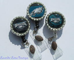 Philadelphia Eagles-retractable, badge, reel, Philadelphia, Eagles, sports, football, id holder, id reel, credentials holder, credentials reel, retractable badge reel, retractable id reel, Philadelphia Eagles badge reel, football team badge reel, football theme, medical gift, teacher gift, coach gift, retractable badge pull