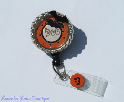 "Halloween ""Boo""-retractable, badge, reel, id, reel, Halloween, Halloween badge reel, Halloween theme, Fall badge reel, holiday badge reel, fun badge reels, Halloween id holders, credentials holder, retractable badge reel, retractable badge holder, retractable id holder, unique badge reels, Halloween gift, Fall gift, nurse gift, teacher gift, office worker gift"