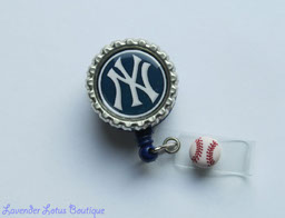 NY Yankees-retractable, badge, reel, id, credentials, New York, NY, Yankees, baseball, red, gift, badge reel, Yankees badge reel, Yankees gift, baseball theme, coach gift, retractable badge reel, retractable id reel, sports badge reel, sports retractable badge reel, fun sports badge reel, sports id reel, baseball badge reel