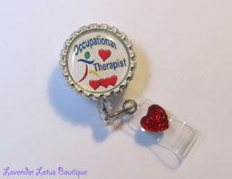 Occupational Therapit-retractable badge reel, retractable id reel, retractable badge holder, badge reels, id reels, id holders, id pulls, badge pulls, Occupational Therapy, Occupation Therapy gifts, fun badge reels, unique badge reels, designer badge reels, medical badge reels, badge reel gifts