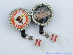 Baltimore Orioles Inspired-retractable, badge, reel, id, credentials, credentials holder, sports, sports theme, Baltimore sports,