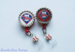 Philadelphia Phillies Inspired-retractable, badge, reel, id, reel, credentials, Philadelphia, Phillies, baseball, red, champions, retractable badge reel, retractable id reel, retractable badge pull, retractable credentials pull, id badge reel, badge holder, sports, gift, fun badge reel, sports theme, sports badge reel, sports retractable badge reel, baseball badge reel