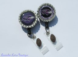 Baltimore Ravens-retractable, id reel, badge, badge reel, badge pull, credentials reel, Baltimore Ravens, football team, coach, football, retractable badge reel, fun badge reels, badge reels, Ravens football, football badge reel, football theme,