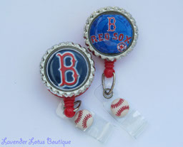 Boston Red Sox-Boston, Red Sox, baseball, retractable, badge, reel, Red Sox fan, bottlecap, id reel, retractable id reel, badge pull, id pull, credentials strap, baseball gift, coach, fun badge reel, sports badge reel, sports id reel, baseball badge reel, baseball retractable badge reel