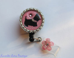 Classic Black Scottish Terrier-retractable, badge, reel, id, credentials, badge reel, id reel, credentials holder, id holder, retractable badge reel, retractable id reel, retractable id holder, Swarovski crystal, rhinestones, nurse badge reel, teacher badge reel, office badge reel, nurse gift, teacher gift, office worker gift, fun badge reels, fun id reels, bottlecap badge reels, unique badge reels