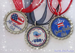 Yankee Doodle 4th of July-Yankee, Doodle, bottlecap, USA, necklace, red, white, blue, gift, independence, fun, celebrate