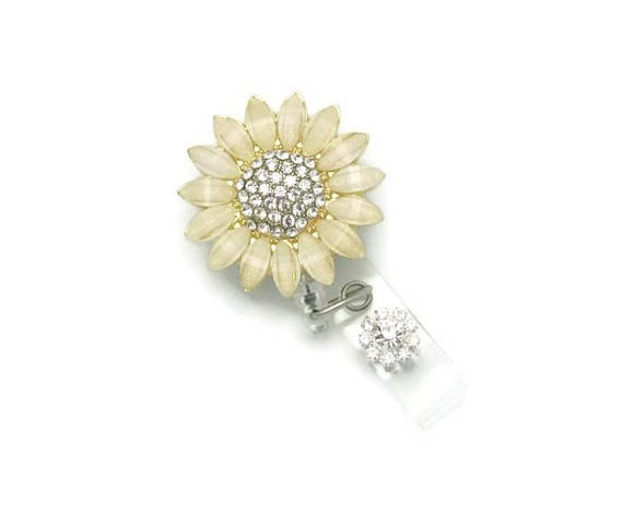 Sunflower Badge Reel-Sunflower Badge Reel - Bling Badge Reel - Badge Reel Jewelry - Badge Reel - ID Badge Reel - Badge Reel Gifts - Cute Badge Reels - Sunflower Gifts
