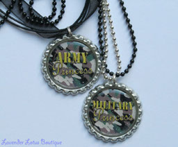 Military Camo Princess-necklace, jewelry, bottlecap, military, Army, princess, camo, necklace,  ribbon, ball chain, pendant, military princess necklace, bottlecap necklace, military camo necklace, military camo ribbon necklace
