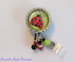 Love Me Some Ladybugs-retractable, badge, reel, id, holder, ladybug, beads, badge reel, id reel, id badge reel, ladybug badge reel, fun badge reel, unique badge reel, badge reel lanyard, badge reel gifts, badge holder, nurse badge reel, office badge reel, teacher badge reel, fun badge reel, unique badge reels